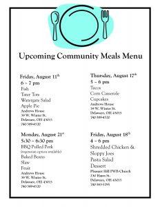 Community Meals Menu
